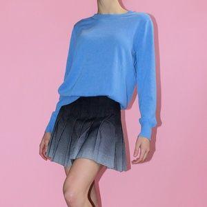J. CREW Periwinkle 100% Merino Tippi Sweater